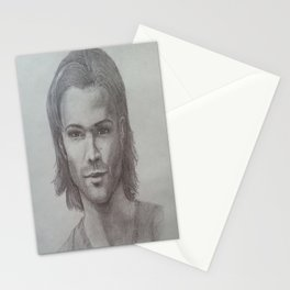 Sam Winchester Graphite portrait Stationery Cards