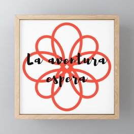 La aventura espera | Adventure awaits Framed Mini Art Print