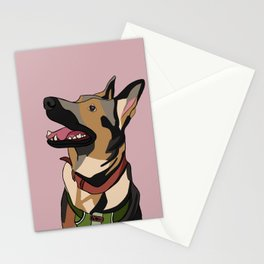 A girl's best friend. Stationery Cards