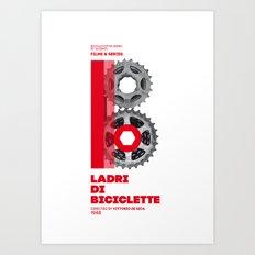 Bike to Life - LadridiBiciclette Art Print