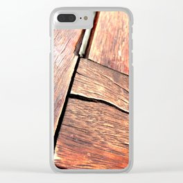 Black Crack. Fashion Textures Clear iPhone Case
