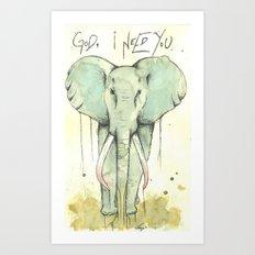 i need You Art Print