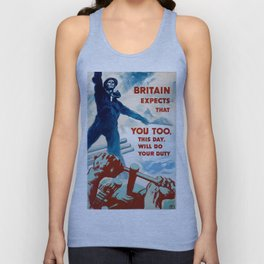 World War Two Propaganda Poster Unisex Tank Top