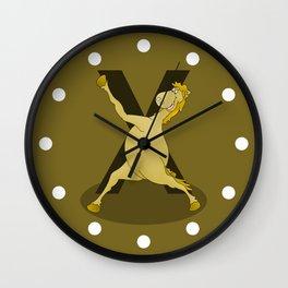 Monogram X Pony Wall Clock