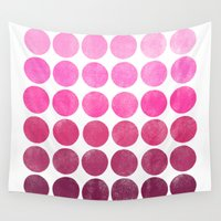 waldo Wall Tapestries featuring Color Play Pink by Garima Dhawan