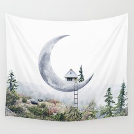 Moon House Wall Tapestry