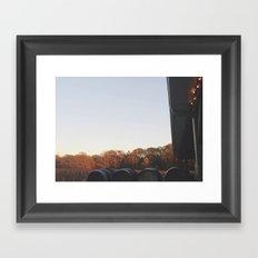Autumn Vineyard Framed Art Print