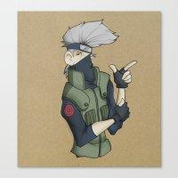 kakashi Canvas Prints featuring Kakashi by Salva Laserna