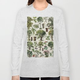 Adolphe Millot - Arbres A - French vintage botanical poster Long Sleeve T-shirt