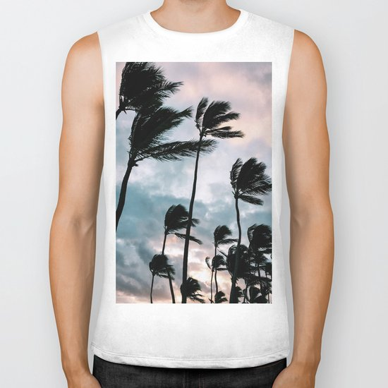 Palm trees, Bavaro beach Biker Tank