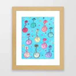 Flower Orbs Framed Art Print