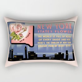 New York state flower vintage greetings from Rectangular Pillow