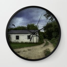 Flyover at dusk Wall Clock