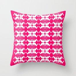 Oh, deer! in hot pink Throw Pillow