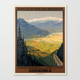 Vintage poster - Grenoble Canvas Print