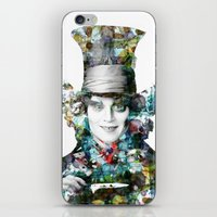 mad hatter iPhone & iPod Skins featuring Mad Hatter by NKlein Design