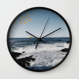 Yellow Birds by the Seaside Wall Clock