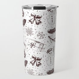 Christmas seamless pattern Travel Mug