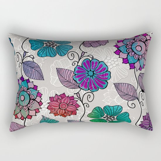 Flower Flow #2 Rectangular Pillow