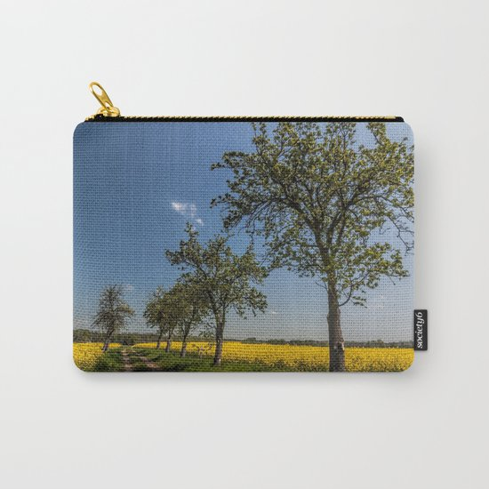 Spring landscape- a trail in the rapeseed Carry-All Pouch