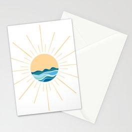 Sun and Waves Boho  Stationery Cards