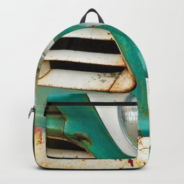 Rusty Turquoise Car Backpack