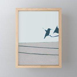Hummingbird & Feeder Framed Mini Art Print