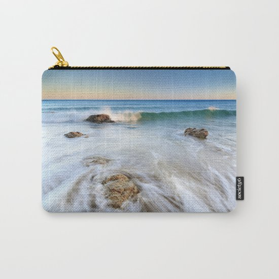 """""""Summer waves"""". At the beach...... Carry-All Pouch"""