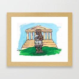 Greek Cat Framed Art Print