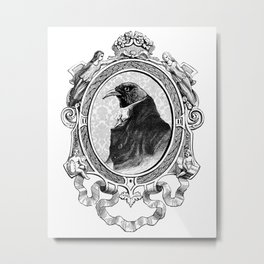 Old Black Crow Metal Print