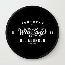 Old Bourbon Whiskey Wall Clock
