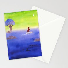 Crossing The Lake Stationery Cards