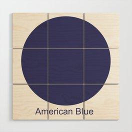 American Blue Wood Wall Art