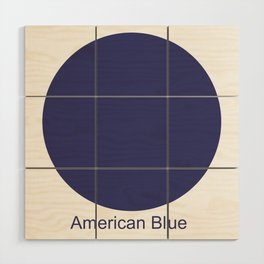 American Blue Wood Wall Art