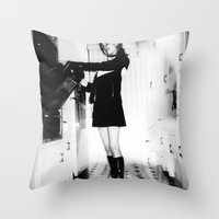 baking Throw Pillows featuring Baking Mod by Penny Giforos