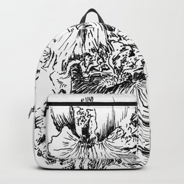 Flower Pen and ink Backpack