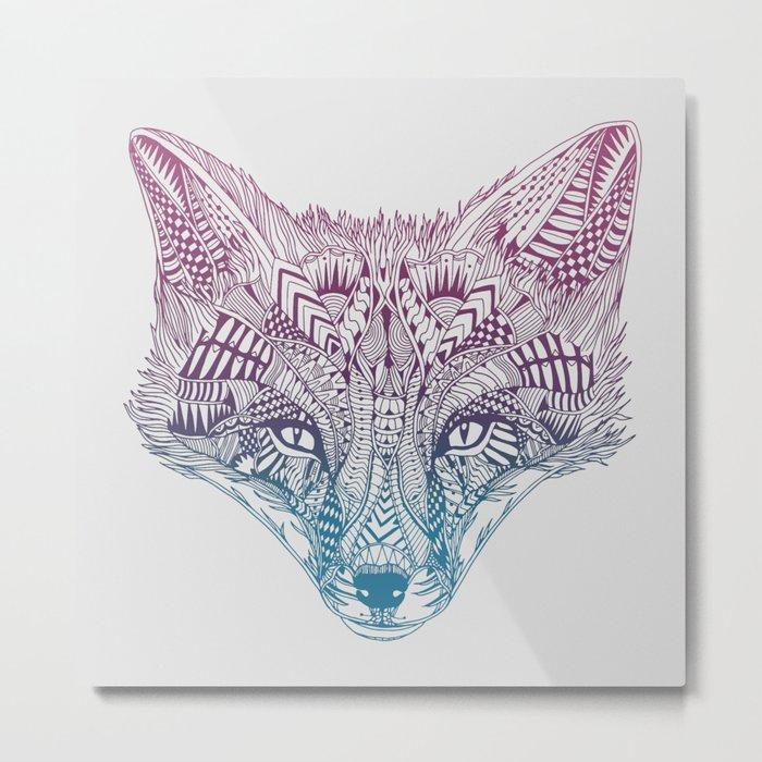 Fox (Clever) Metal Print