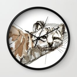 Totem Andean cat (AGA) Wall Clock