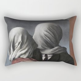 The Lovers II (Les Amants) 1928, Artwork Rene Magritte For Prints, Posters, Shirts, Bags Men Women K Rectangular Pillow