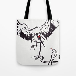 Snake and Crane Tote Bag