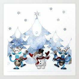 Snowman20150904 Art Print