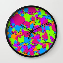 Lucky Hand Colorful Playing Card Suits Wall Clock