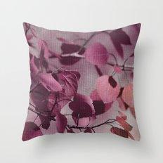 purple leaves Throw Pillow