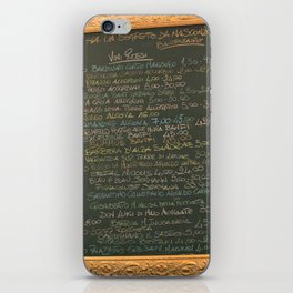 Wine List A-La Veronese iPhone Skin