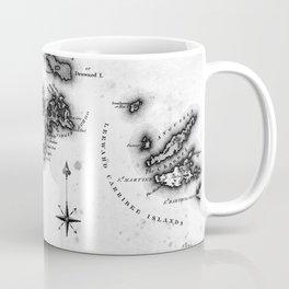 Vintage Map of The Virgin Islands (1823) BW Coffee Mug