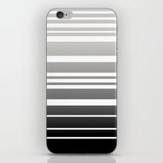Bay Ombre Stripe: Gray Black iPhone & iPod Skin