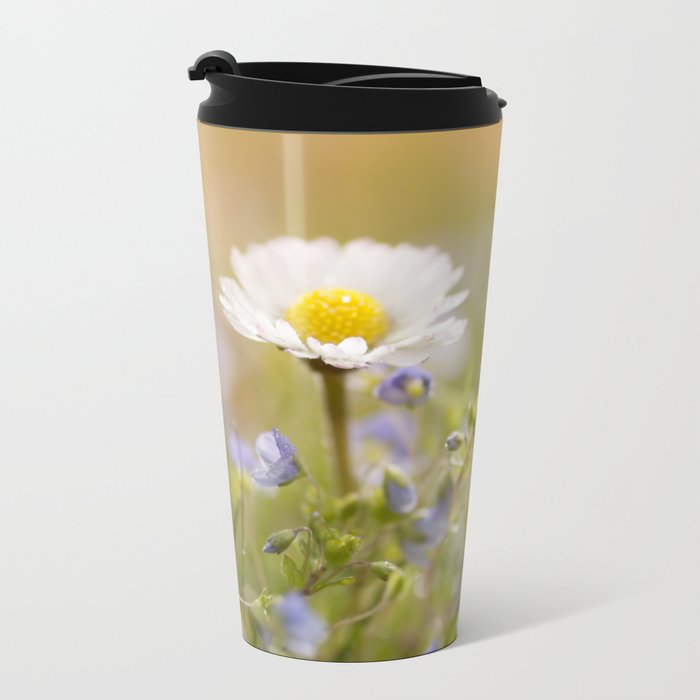 Daisy and court- Daisies Flowers Flower Meadow Spring #Society6 Metal Travel Mug