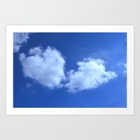 Hearts in the Sky Art Print