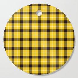 Clueless Yellow Plaid Tartan Cutting Board