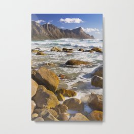 Rocky beach at Kogel Bay in South Africa Metal Print